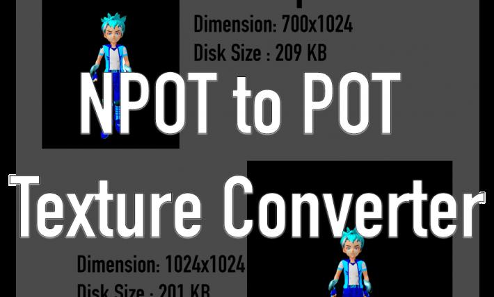 NPOT to POT Texture Converter